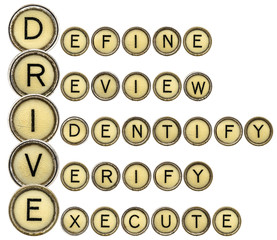 Define, Review, Identify, Verify, Execute - DRIVE
