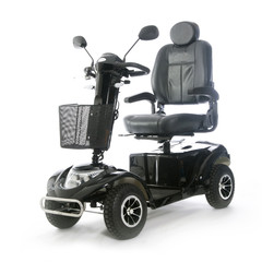 black motorized mobility scooter fot elderly people
