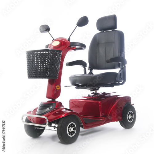 motorized mobility scooter fot elderly people - 79647337