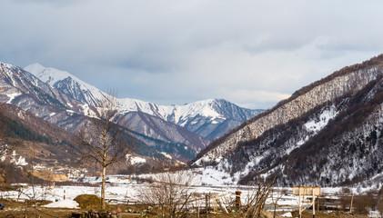 Winter landscape, mountains