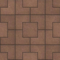 Pavement of Squares in Brown Colors.