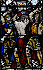 The Flagellation of Christ (stained glass)