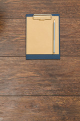 Close-up of blank clipboard