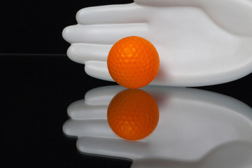 Ceramics hand and golf equipments
