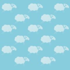 schäfchenwolken hellblau I