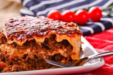 Home made beef lasagna.