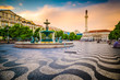 Rossio Square of Lisbon, Portugal