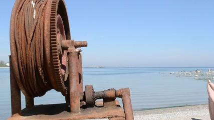 Rusted Fishing Boat Windlass