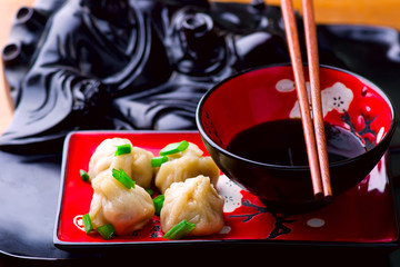 wontons. Chinese cuisine.