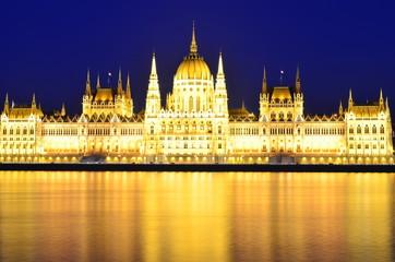 Parliament of Budapest, Hungary at night