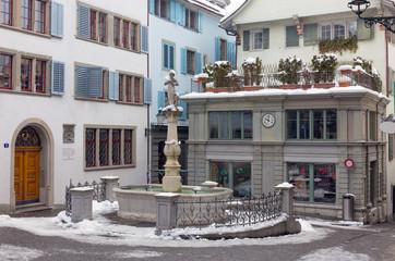 Napf square in Zurich old town, Switzerland