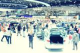 Blurred image of the International Geneva car show - 79652148