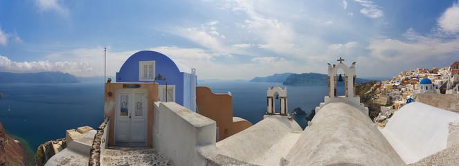 Stunning Oia panorama. Santorini, Greece.