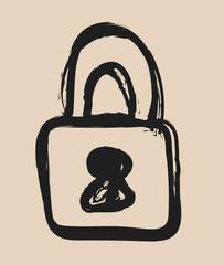 doodle padlock