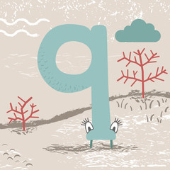 Cute alphabet, Number 9