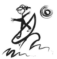 doodle surfer