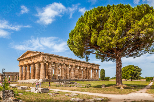 Fotobehang Rudnes Temples of Paestum Archaeological Site, Salerno, Campania, Italy