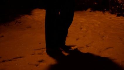 Snowy Night Meeting Point