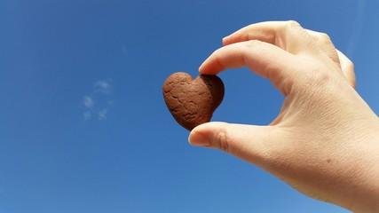 Biscotto a forma di cuore