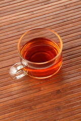 Tea Cup on wooden background