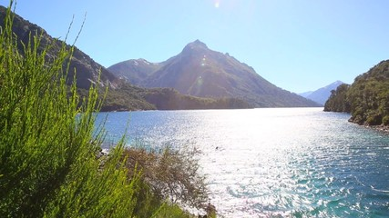 View of lago perito moreno from bridge, Bariloche