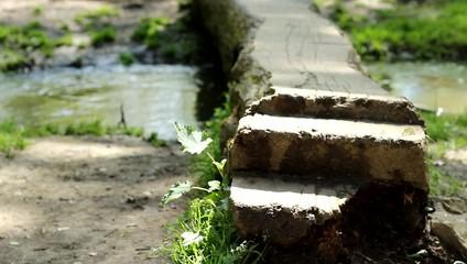 Steps over Footbridge