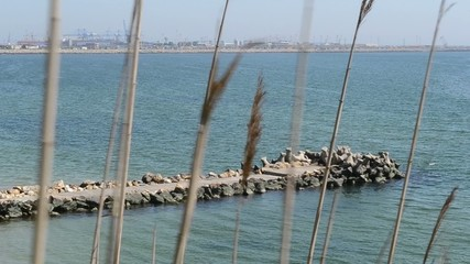 Stone Made Pier at Sea