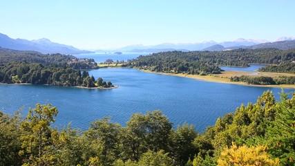 Nahuel Huapi lake from Cerro Otto mountain, Bariloche