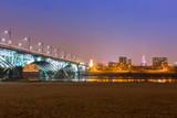 Architecture of Poniatowski bridge over Vistula river in Warsaw