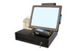 Point of sale touch screen system with thermal printer