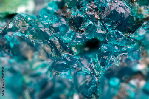 canvas print picture Chrysocolla is a hydrated copper cyclosilicate