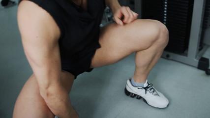 warm calf muscle