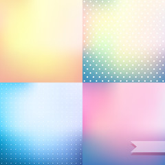 Pastel colored blurred background set
