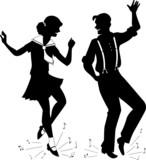 Tap Dancing Silhouette