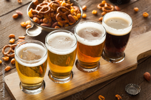Foto op Canvas Bier / Cider Assorted Beers in a Flight
