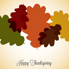 Acorn leaf Thanksgiving card in vector format.