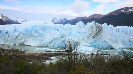 View of Perito Moreno glacier from the footbridge