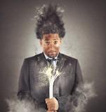 Businessman electrocuted