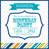 Fototapety Birthday invitation