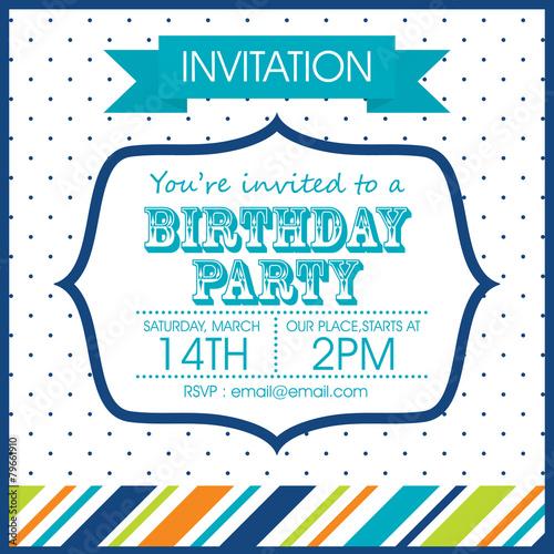 Birthday invitation - 79661910