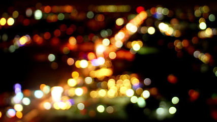 blurred lights of traffic loopable timelapse 4k (4096x2304)