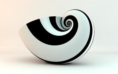 golden spiral shell stripes