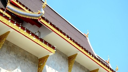 Bell at roof of Wat Khua Khrae Temple in Chiang Rai, Thailand.