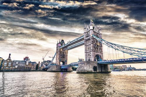 Fototapeta London Bridge at sunset