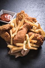 Chicken fried meat
