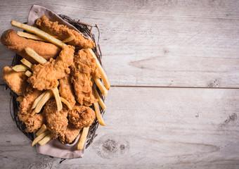 Junk food in the basket