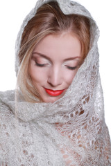 the girl in the shawl