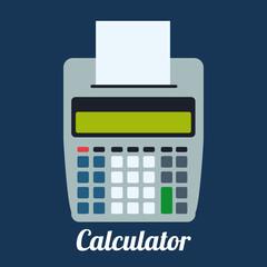 Calculator design, vector illustration.