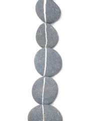 Five striped stones