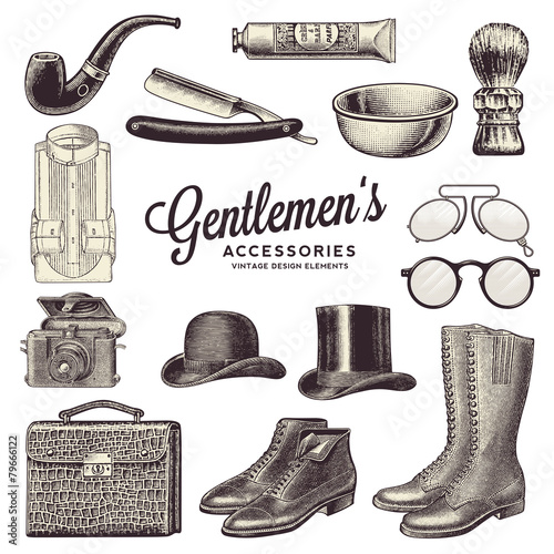 collection of gentlemen's accessories